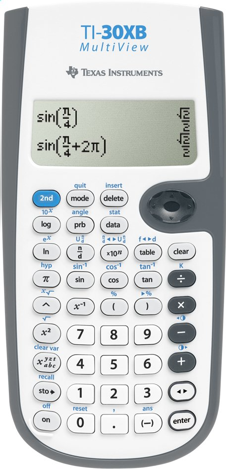 Afbeelding van Texas Instruments rekenmachine 30XB MultiView from DreamLand