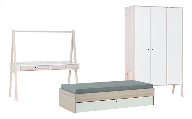 Image pour Chambre 3 éléments Bente avec bureau blanc à partir de DreamLand
