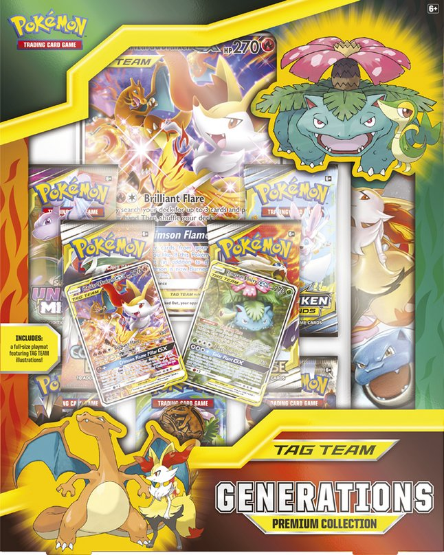 Pokémon Trading Cards Tag Team Generations Premium Collection ANG