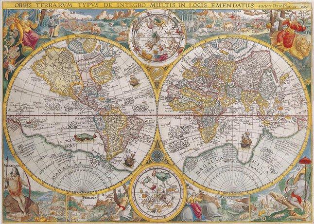 Afbeelding van Ravensburger puzzel Wereldkaart 1594 from DreamLand