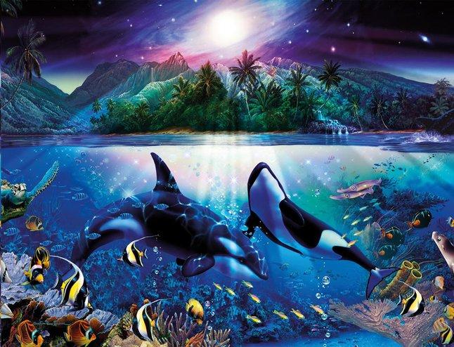 Afbeelding van Ravensburger puzzel Harmonieuze orka's from DreamLand