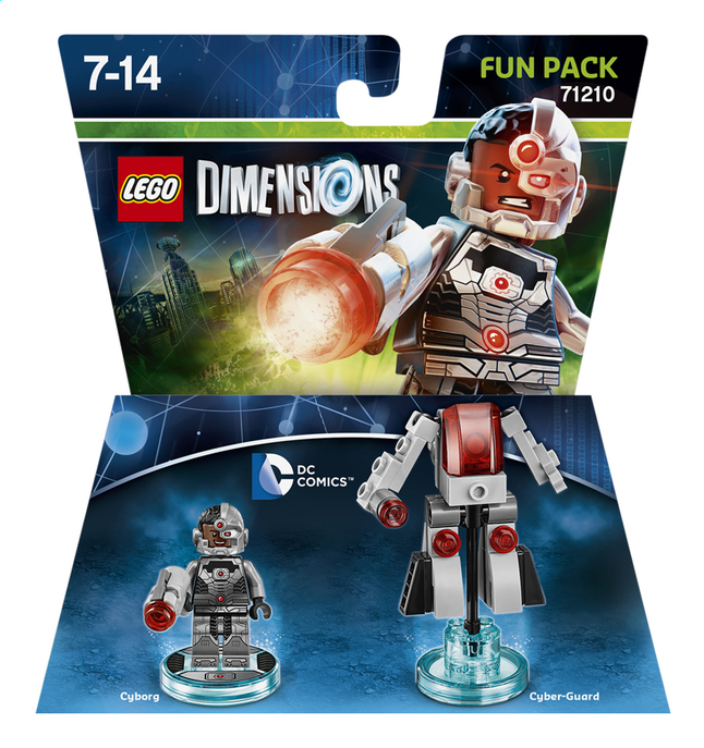 Afbeelding van LEGO Dimensions figuur Fun Pack DC Comics 71210 Cyborg from DreamLand