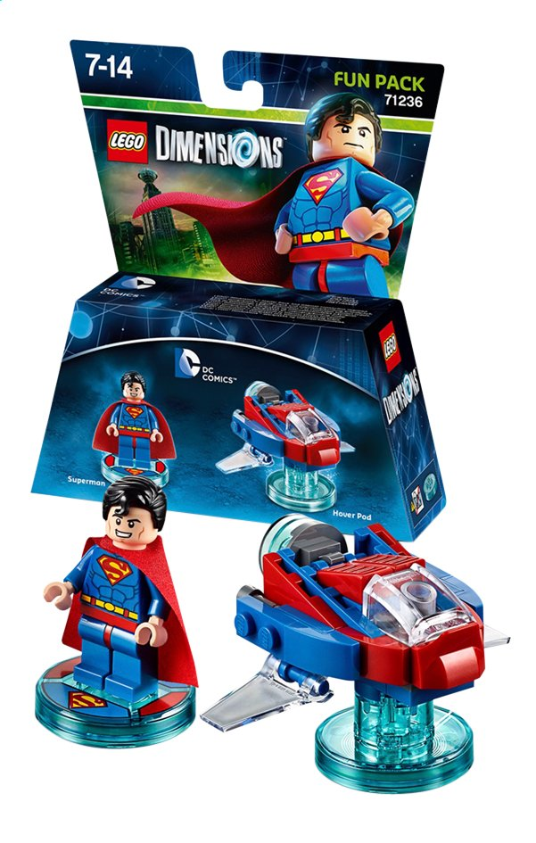 Afbeelding van LEGO Dimensions figuur Fun Pack DC Comics 71236 Superman from DreamLand