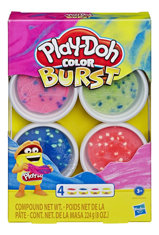 Play-Doh Color Burst 4 pots - rose