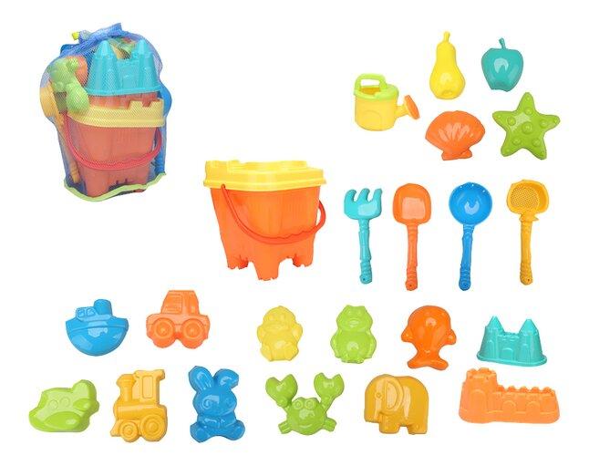 Emmertje met strandspeelgoed - 22 stuks