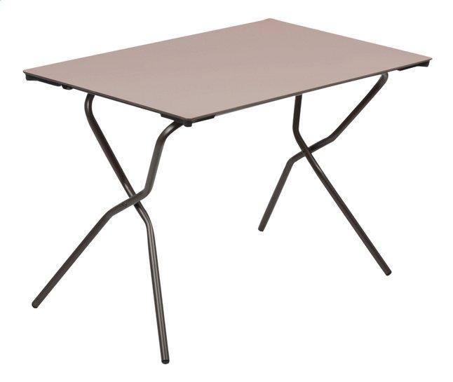 Lafuma Table pliante Anytime taupe L 110 x Lg 68 cm | DreamLand