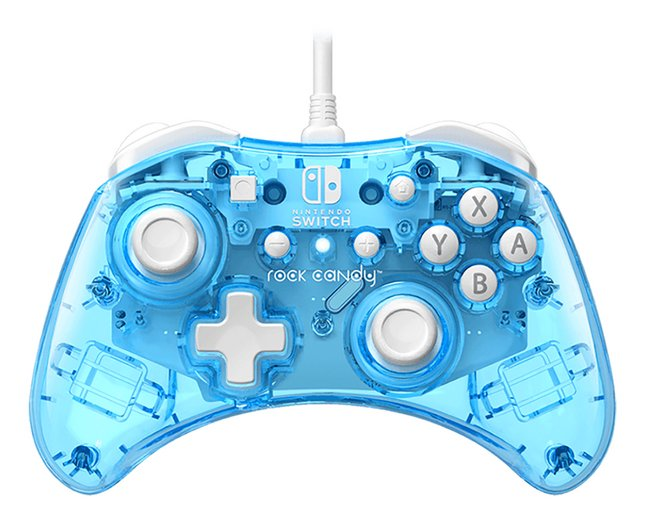 PDP Controller Rock Candy Wired voor Nintendo Switch Blue-merang