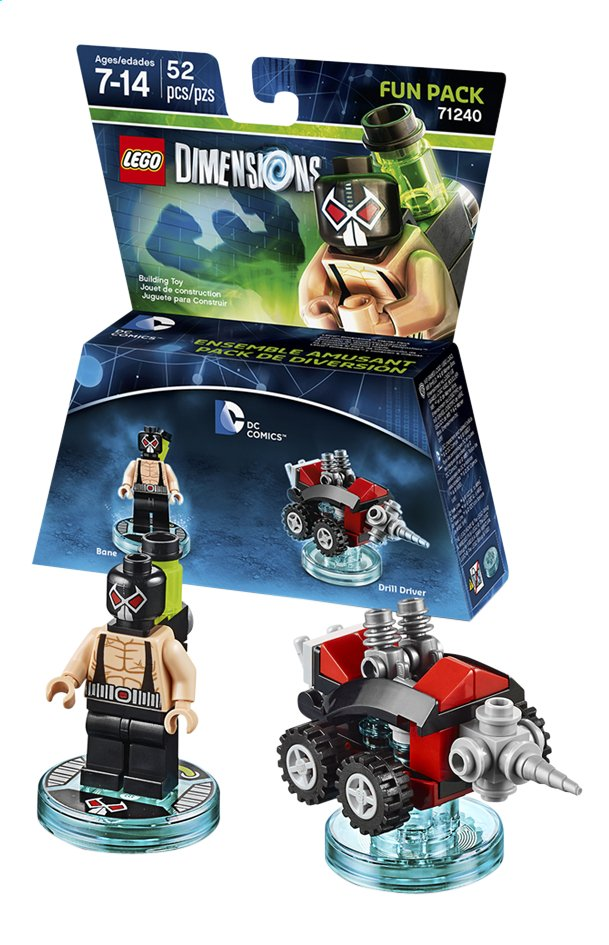 Afbeelding van LEGO Dimensions figuur Fun Pack DC Comics 71240 Bane from DreamLand