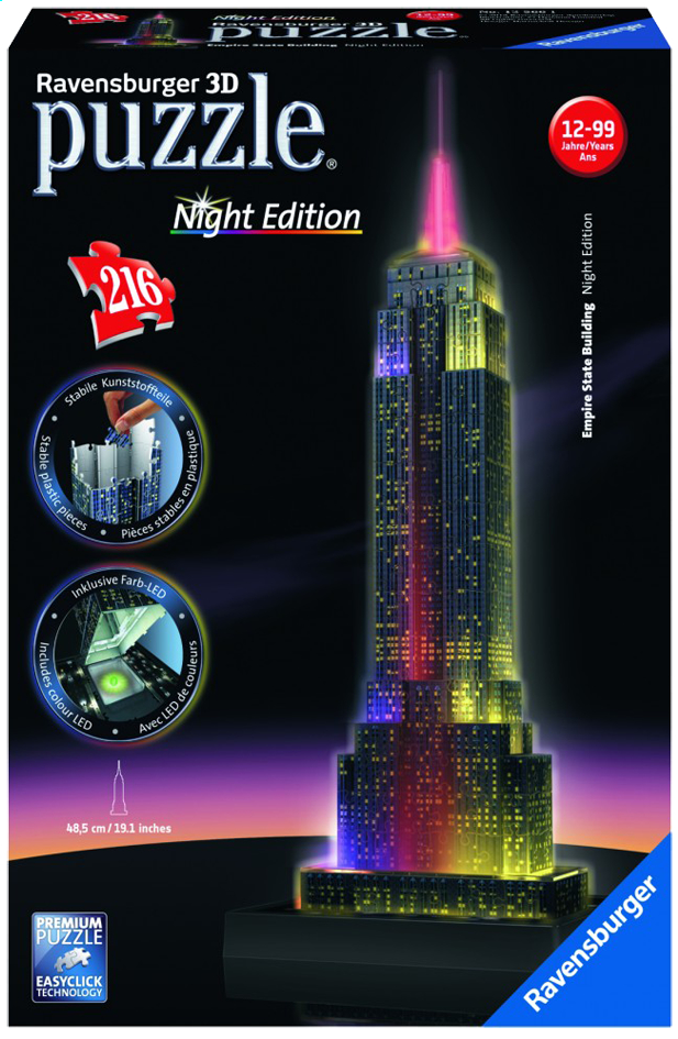 Afbeelding van Ravensburger 3D-puzzel Night Edition Empire State Building from DreamLand