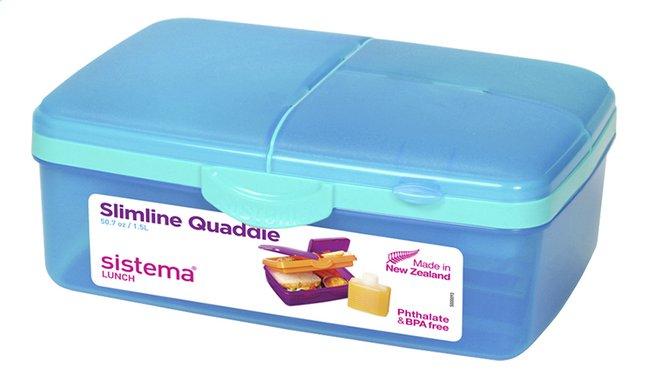Afbeelding van Sistema lunchbox Slimline Quaddie blauw from DreamLand
