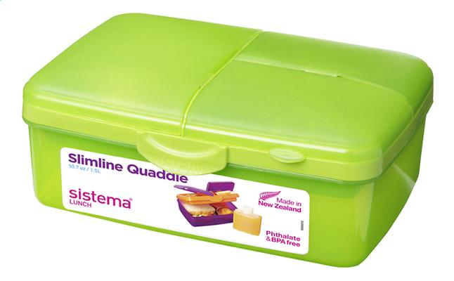 Sistema lunchbox Slimline Quaddie groen