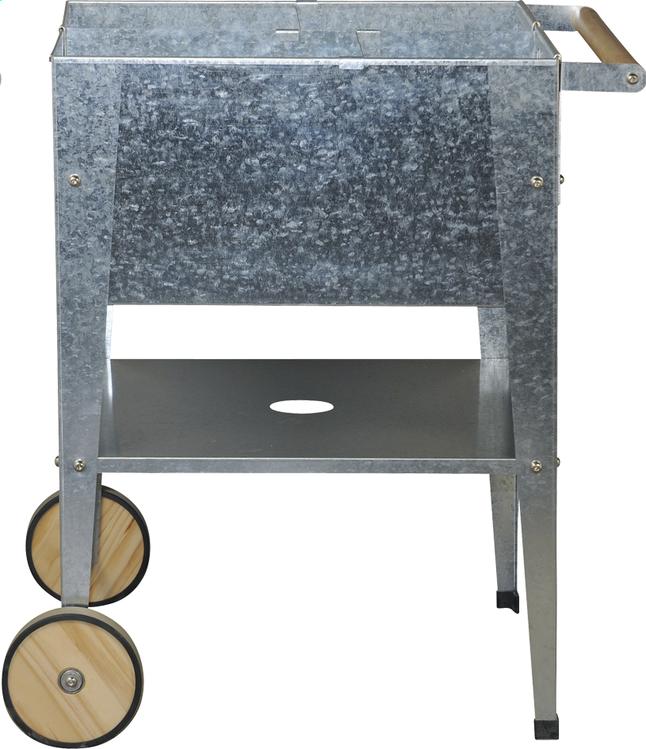 Afbeelding van Kweektafel Wheels zilver 60 x 60 cm from DreamLand