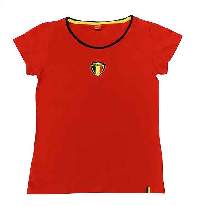 Afbeelding van T-shirt met korte mouwen Dames België rood/geel/zwart from DreamLand