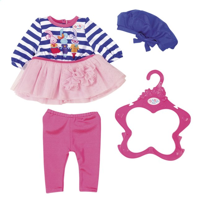BABY born kledijset Modecollectie Blauwe muts