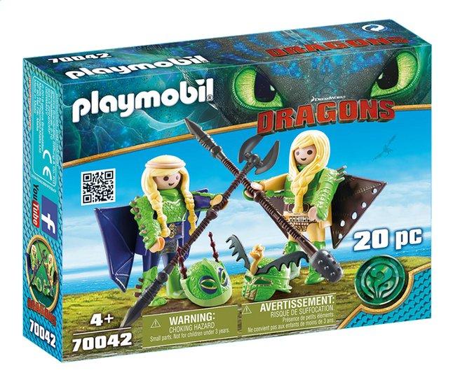 Image pour PLAYMOBIL Dragons 70042 Kranedur et Kognedur en combinaison de vol à partir de DreamLand