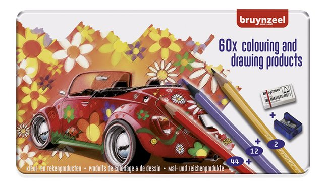 Afbeelding van Bruynzeel kleurpotlood Super Sixties Kever - 60 stuks from DreamLand