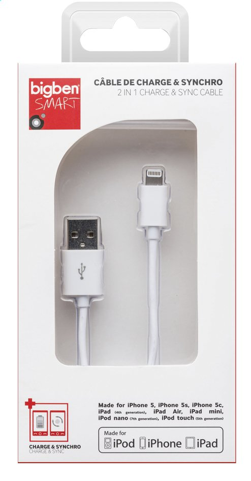 Afbeelding van Bigben kabel Apple Lightning naar USB from DreamLand