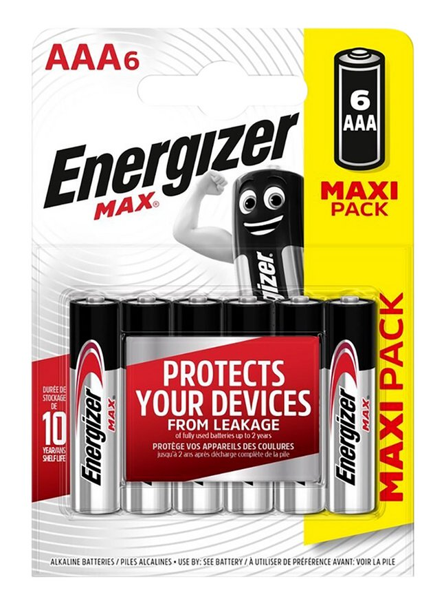 Energizer Max pile AAA - 6 pièces