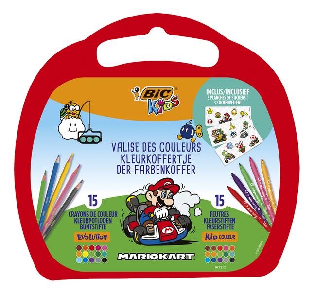 Bic kleurset Mario Kart