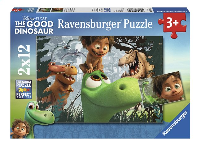 Afbeelding van Ravensburger Puzzel 2-in-1 The Good Dinosaur Spot en de dinosaurussen from DreamLand
