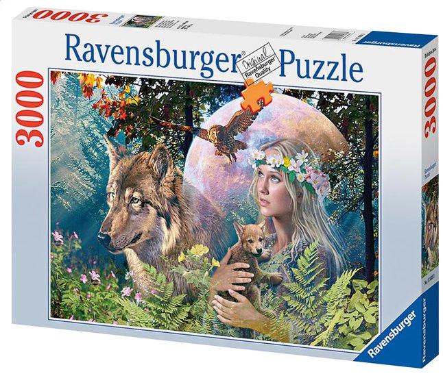 Afbeelding van Ravensburger puzzel Wolven in de maneschijn from DreamLand