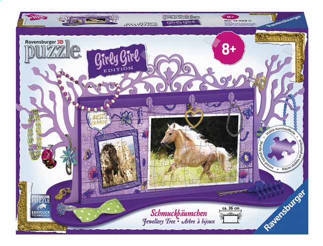 Afbeelding van Ravensburger 3D-puzzel Girly Girl juwelenboom paarden from DreamLand
