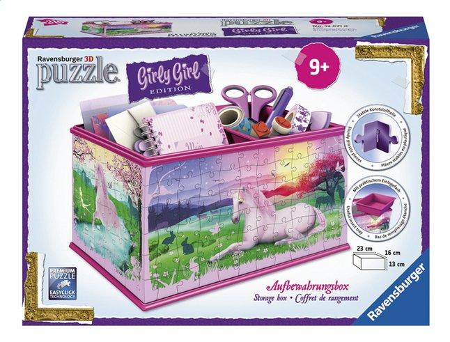 Afbeelding van Ravensburger 3D-puzzel Girly Girl opbergdoos eenhoorns from DreamLand