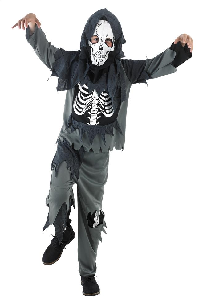 Afbeelding van Verkleedpak zombie met skelet op buik maat 164 from DreamLand