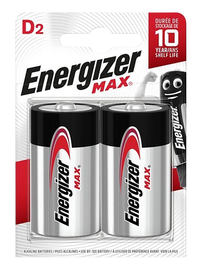 Energizer Max pile D - 2 pièces