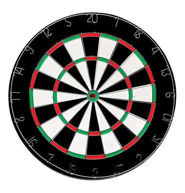QX Max dartbord Flocked Home - van Gerwen