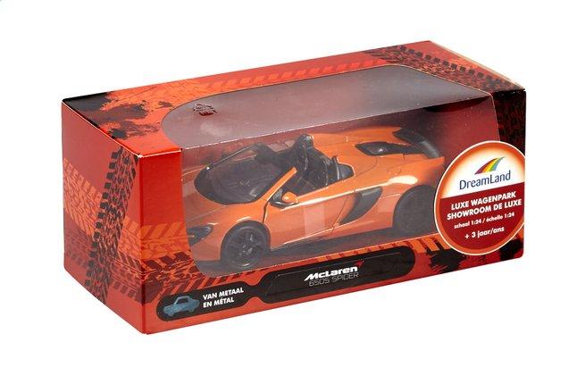 Afbeelding van DreamLand auto Showroom de luxe McLaren 650S Spider oranje from DreamLand