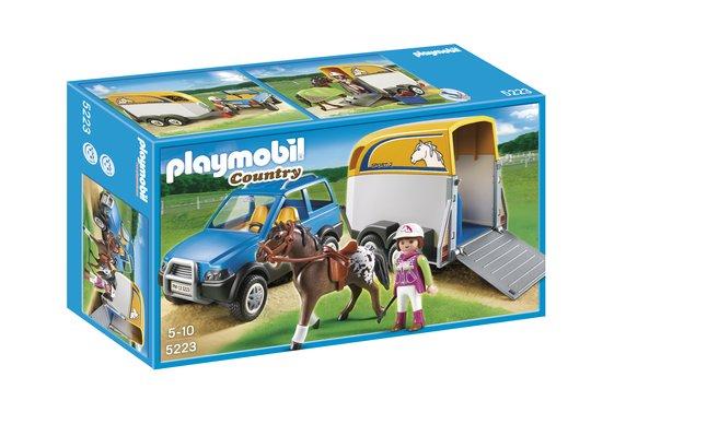 Afbeelding van Playmobil Country 5223 Voertuig met paardentrailer from DreamLand
