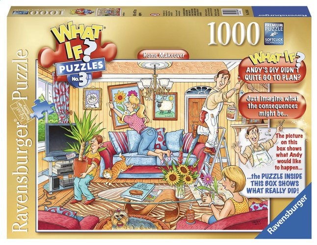 Afbeelding van Ravensburger puzzel What if? 3 Home make-over from DreamLand