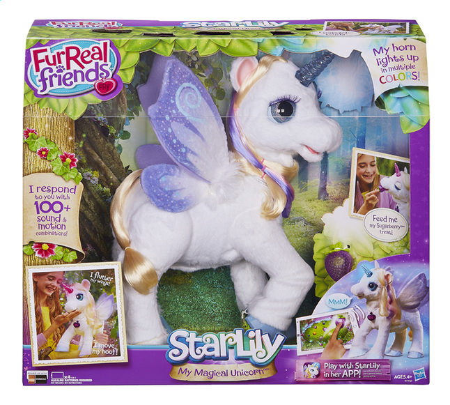 Afbeelding van FurReal Friends Interactieve knuffel StarLily My Magical Unicorn from DreamLand