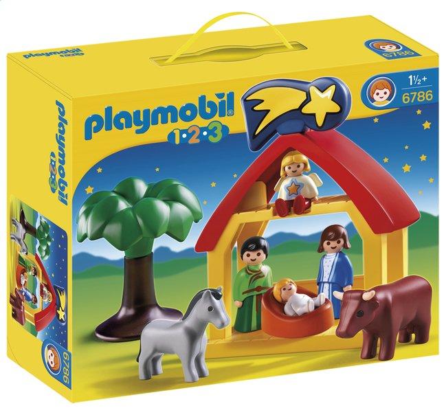 Afbeelding van Playmobil 1.2.3 6786 Kerststal from DreamLand