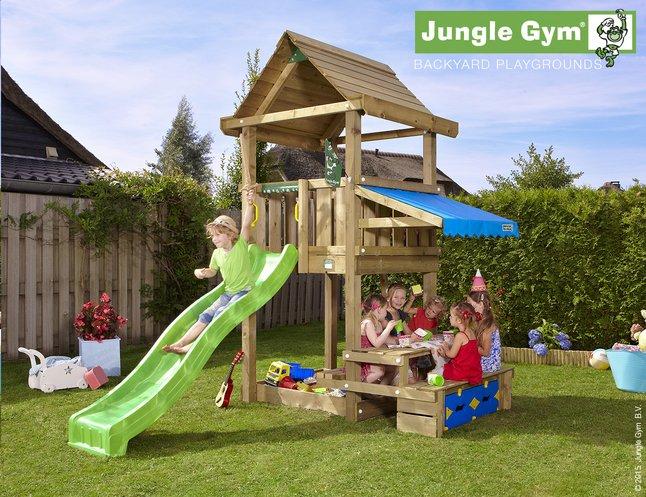 Image pour Jungle Gym tour en bois House avec pique-nique et toboggan vert à partir de DreamLand