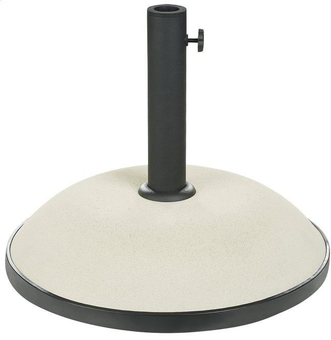 Pied de parasol en béton coloré blanc 35 kg