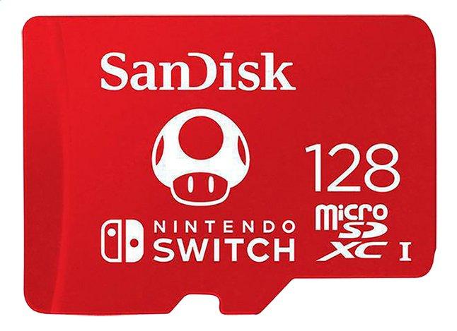 SanDisk carte mémoire microSDXC pour Nintendo Switch 128 Go