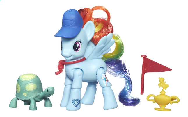 Afbeelding van My Little Pony speelset Explore Equestria Rainbow Dash Ponyspurt from DreamLand