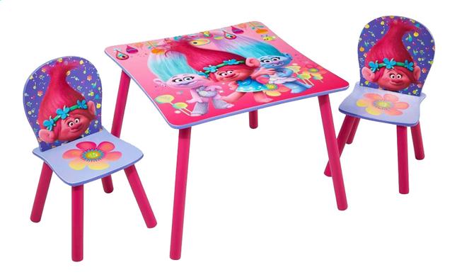 Image pour Table avec 2 chaises pour enfants Trolls à partir de DreamLand