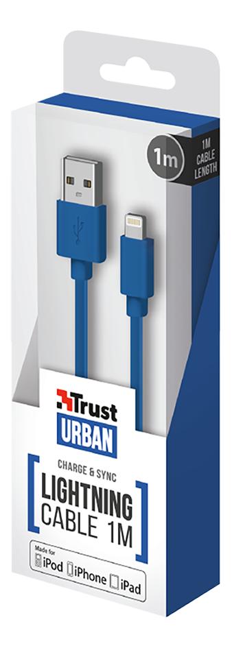 Afbeelding van Trust kabel USB naar Lightning 1m blauw from DreamLand