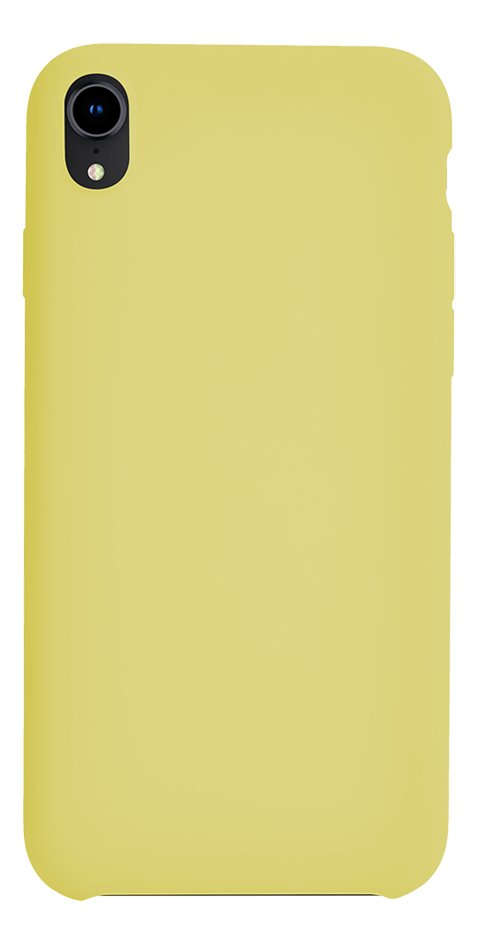 coque iphone xr jaune clair