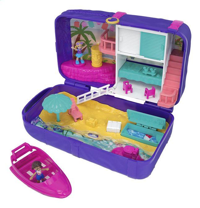 Afbeelding van Polly Pocket speelset Hidden Places Beach Vibes Backpack rugzak from DreamLand
