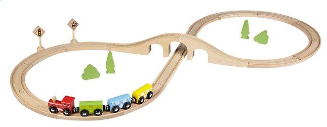 Image pour DreamLand Train en bois avec 20 piéces à partir de DreamLand