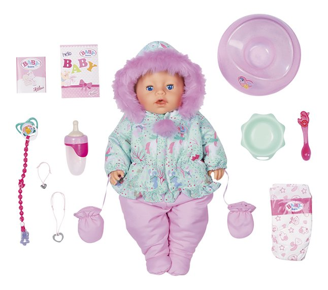 Afbeelding van BABY born pop Soft Touch Winter Edition 43 cm from DreamLand