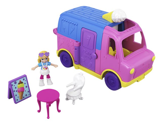 Afbeelding van Polly Pocket micro Pollyville Ijskar from DreamLand
