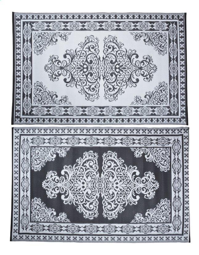 Afbeelding van Esschert Buitentapijt Perzisch motief 186 x 120 cm zwart/wit from DreamLand