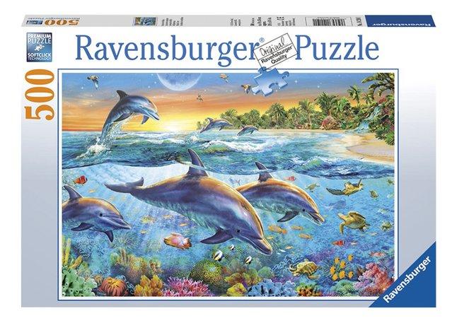 Image pour Ravensburger puzzle La baie des dauphins à partir de DreamLand