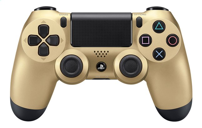 Afbeelding van PS4 wireless controller Gold from DreamLand