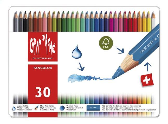 Caran d'Ache crayon de couleur Fancolor - 30 pièces